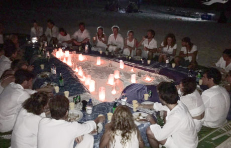 Cena velas Isla virgen