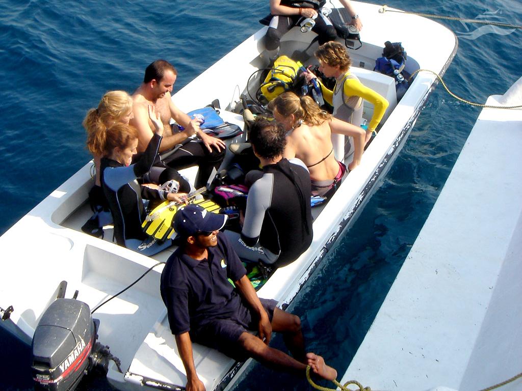 Barco lujo en Maldivas