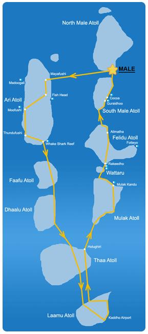 Ruta 15 días en la zona Sur de Maldivas