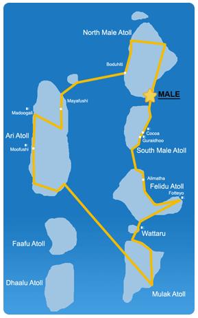 Ruta 15 días en la zona Centro de Maldivas