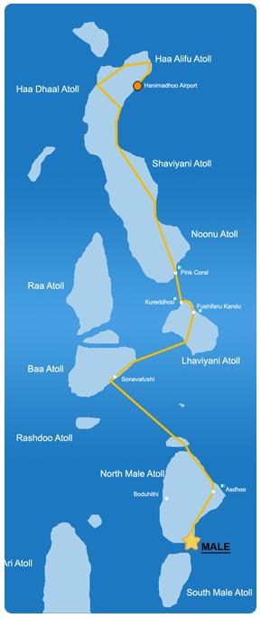 Ruta de aventura en la zona Norte de Maldivas