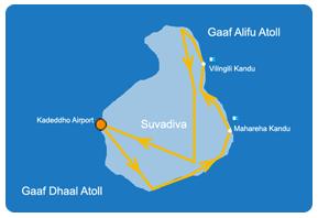 Ruta de aventura en la zona Sur de Maldivas