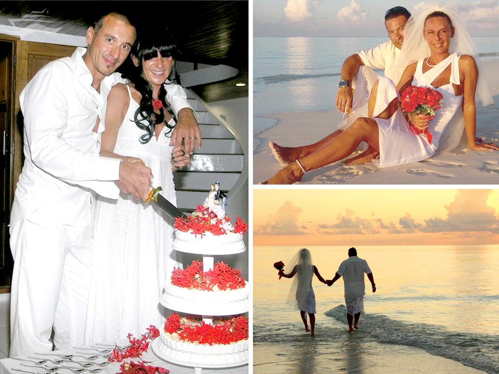 Casarse Islas Maldivas Pastel nupcial
